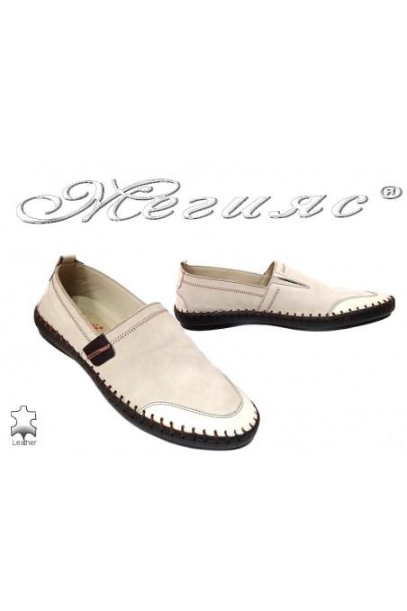 Men casual shoes Fantasia 1301-15 beige+brown nubuck