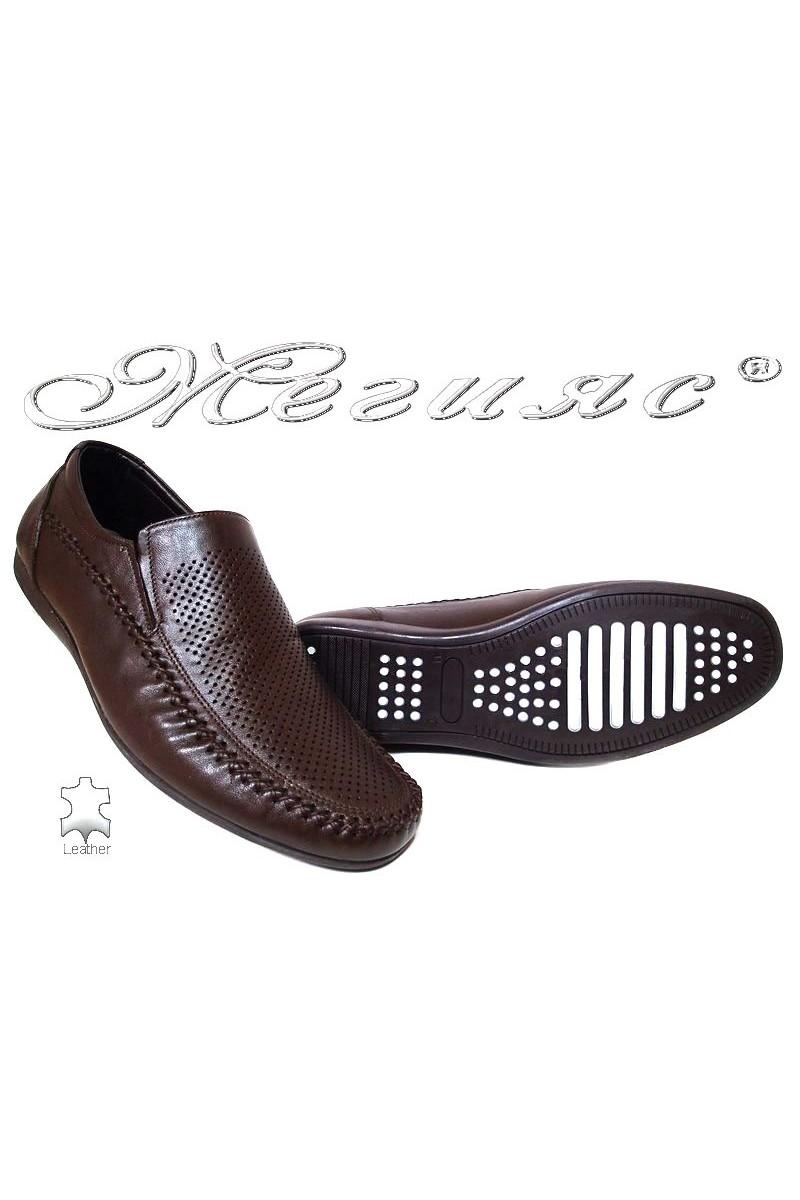 Men casual shoes FANTAZIA 605-58 brown leather