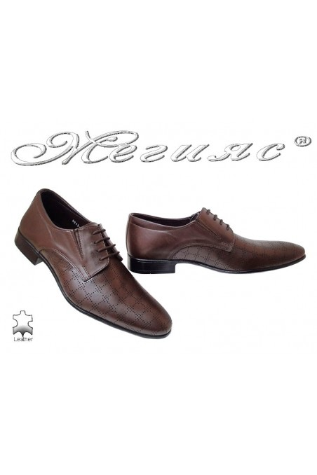 Men formal shoes FANTASIA 8015-246 brown leather