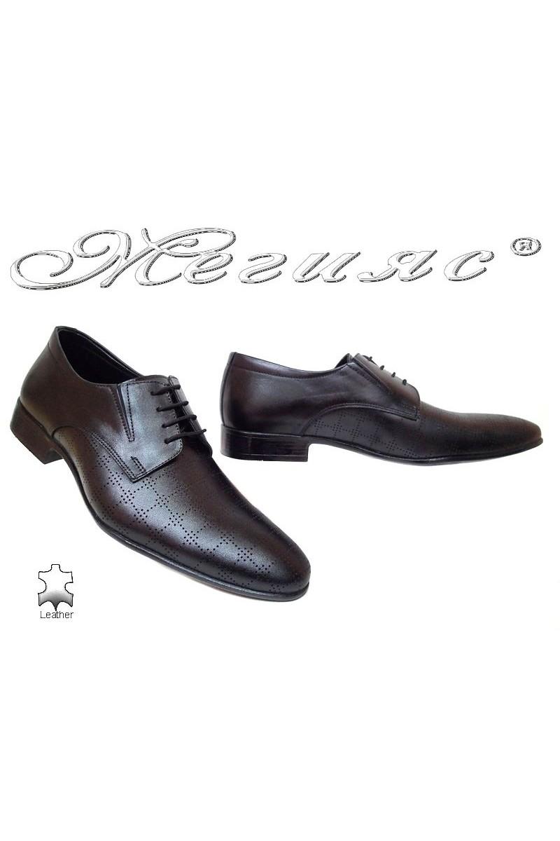 Men formal shoes Fantasia 8015-246 black all leather