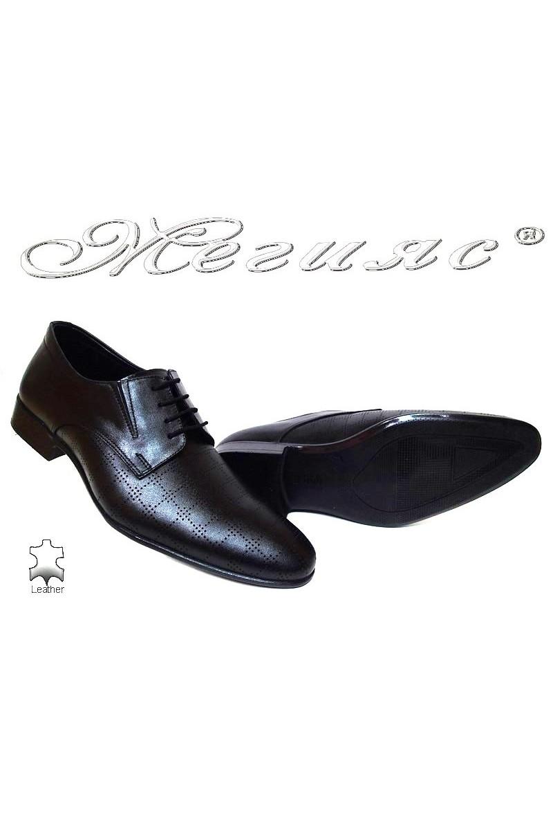 Мъжки обувки Фантазия 8015-246 черни естествена кожа елегантни