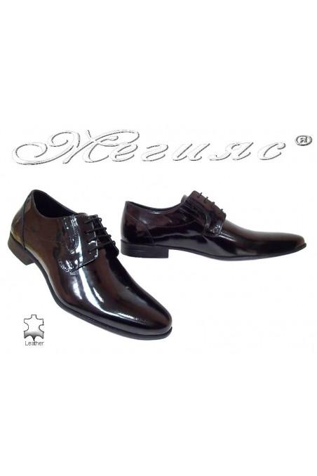 Мъжки обувки Фантазия 8066 черни естествен лак елегантни