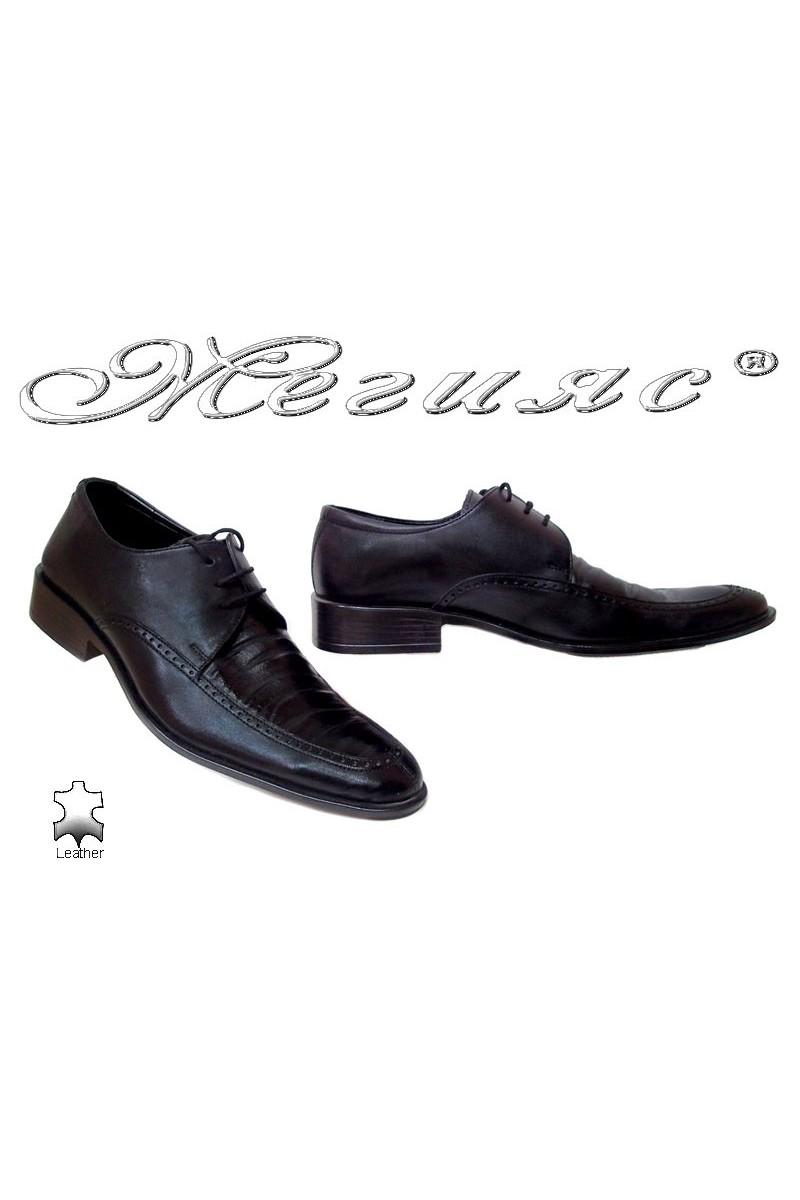 Мъжки обувки Фантазия 10 черни естествена кожа елегантни