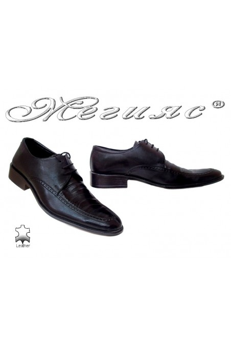 Men elegant shoes 10 black leather