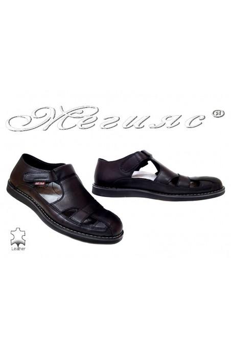 Мъжки сандали 401 черни гигант естествена кожа