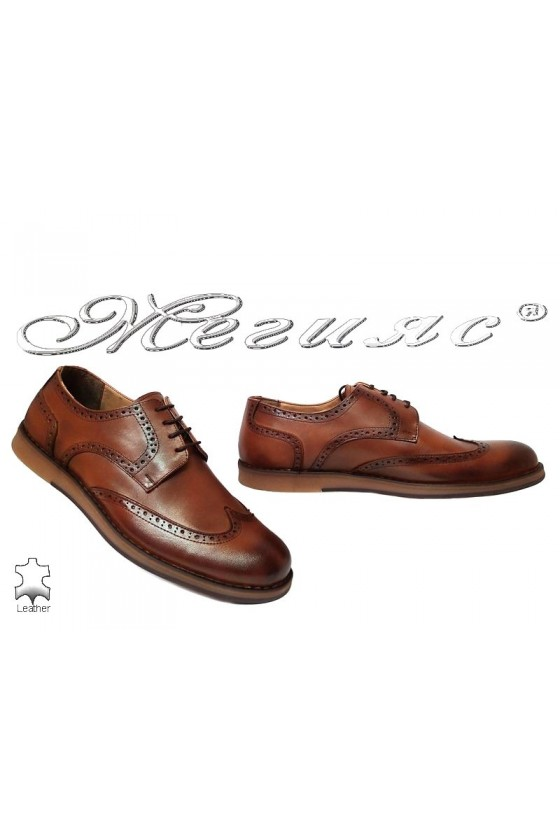 Men shoes 403 brown leather