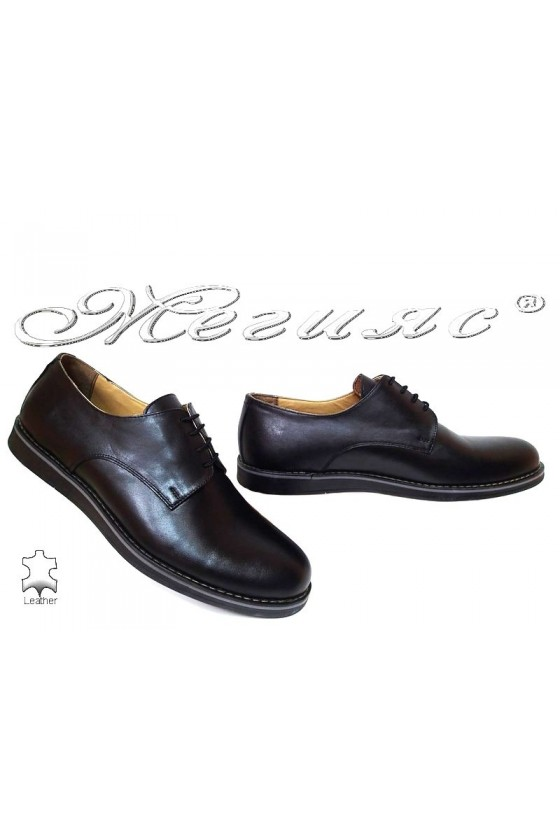 Men shoes 400 black leather