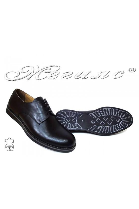 Men shoes 400 black leather