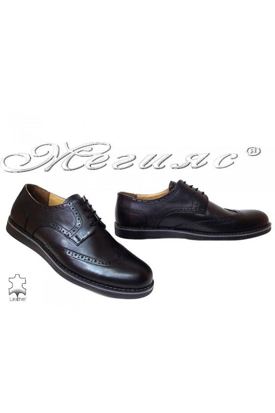 Men shoes 403 black leather