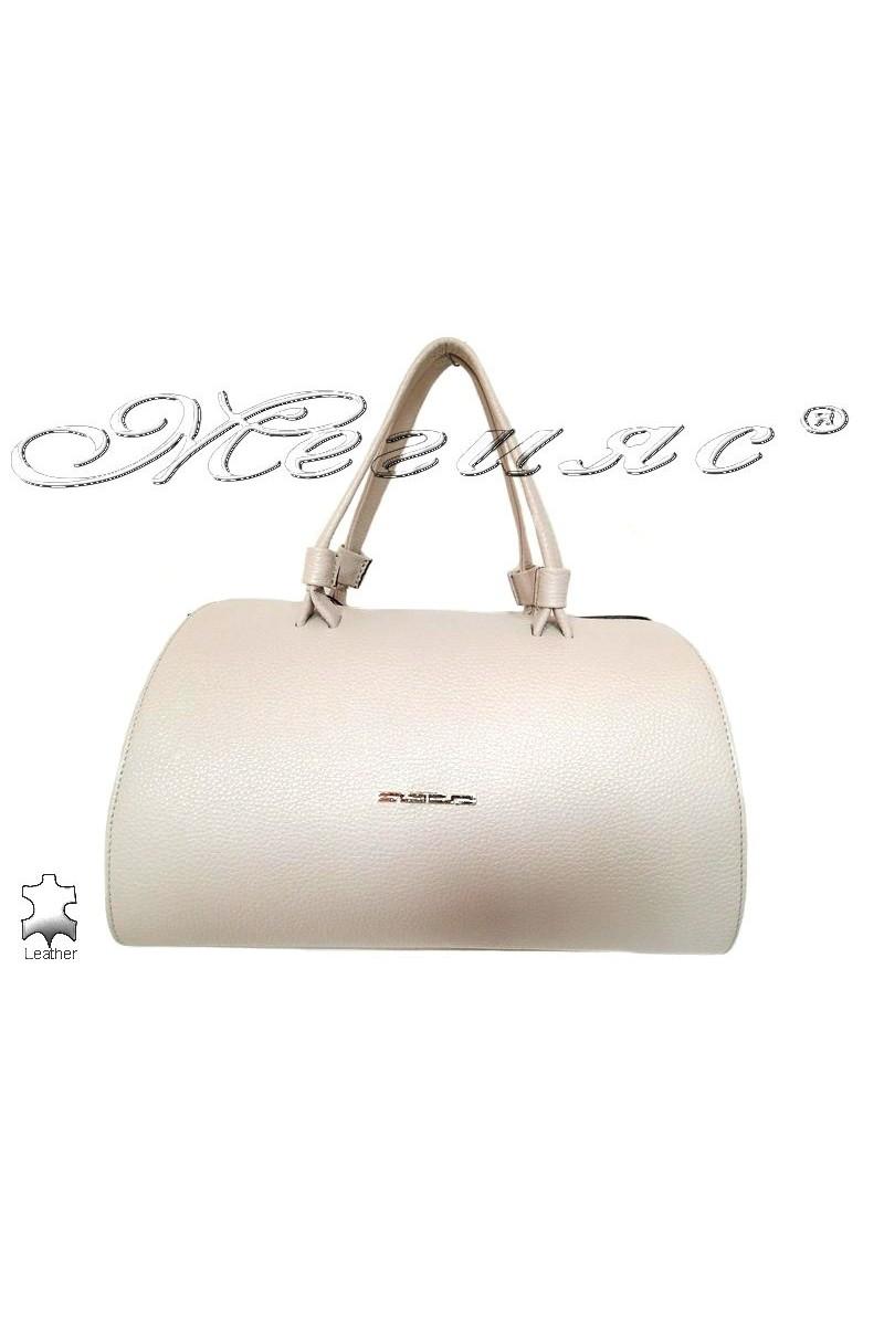 Чанта 8273  бяла естествена кожа