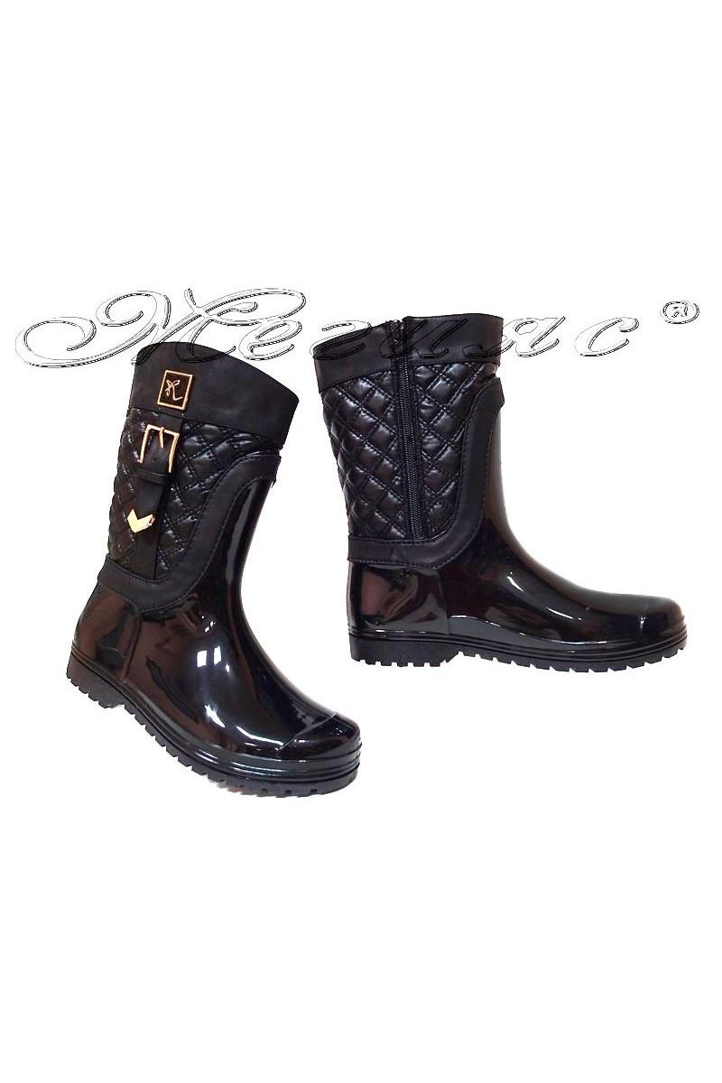 Women casual boots 13-462-7 black gum
