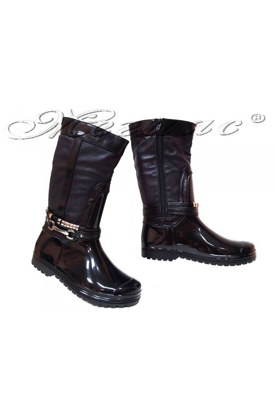 Women casual boots 14-161-3 black gum