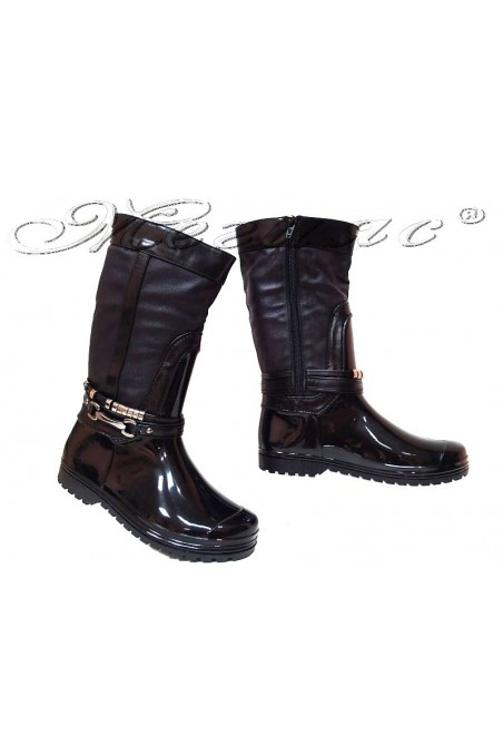 Women casual boots 14-161-3 black gum