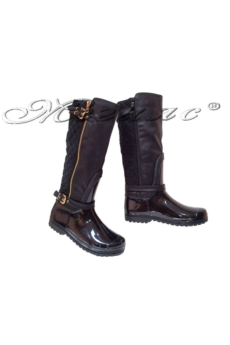 Women casual boots 13-441-8 black gum