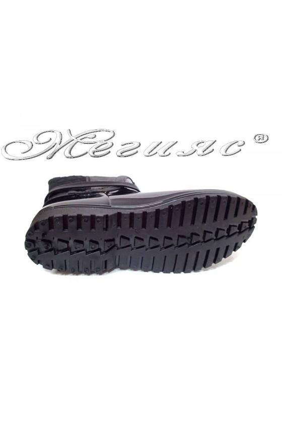 Дамски ботуши 13-441-8 черни ежедневни гумени