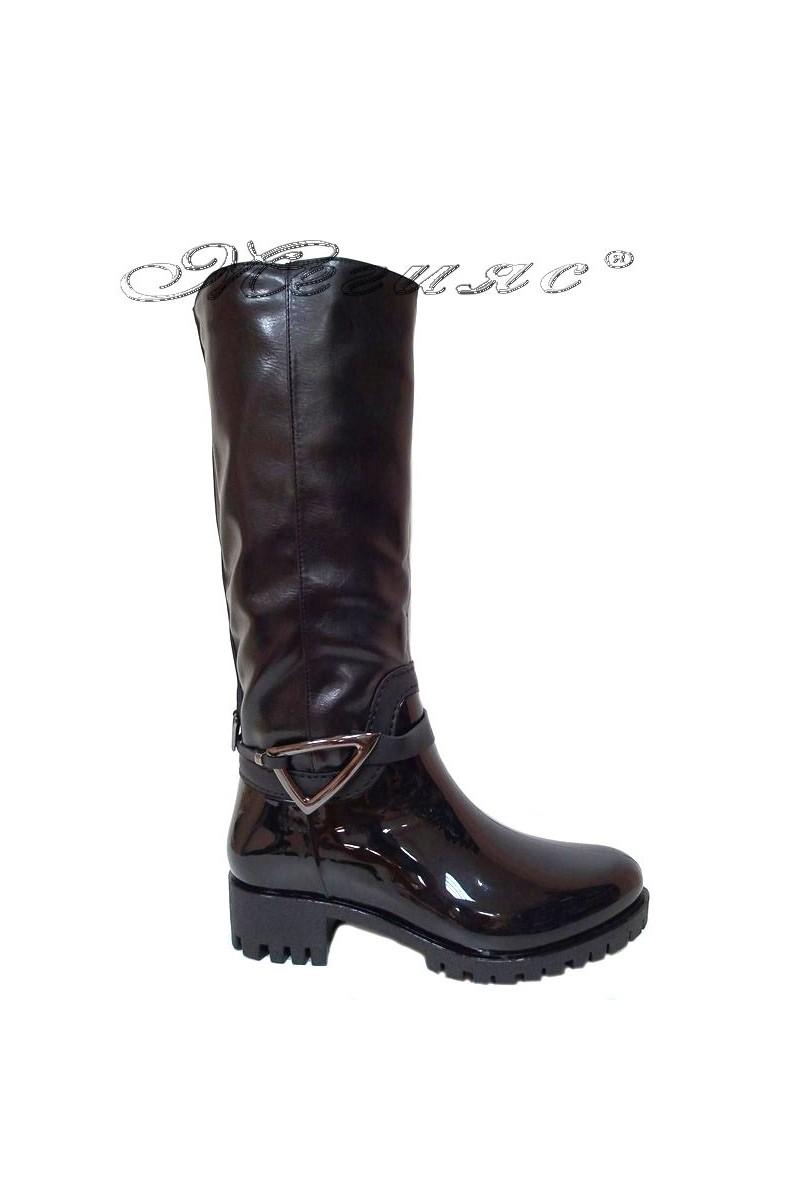 Women casual boots 14-159-6 black gum