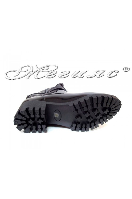 Дамски ботуши 13-159-6 черни ежедневни гумени