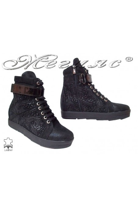 Lady sport boots 1482 black leather