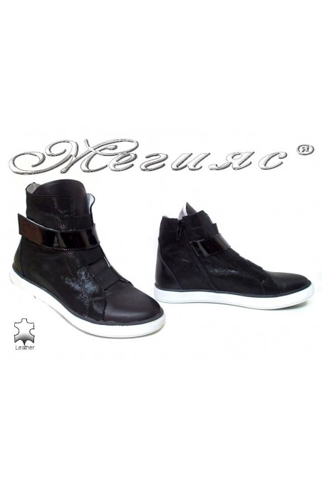 Lady sport boots 1426 black leather