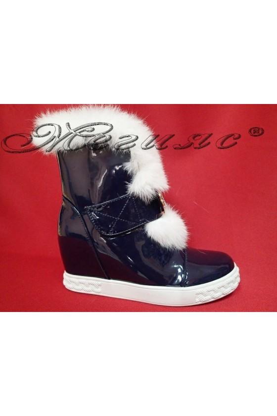 Women boots 116-148 dark blue patent
