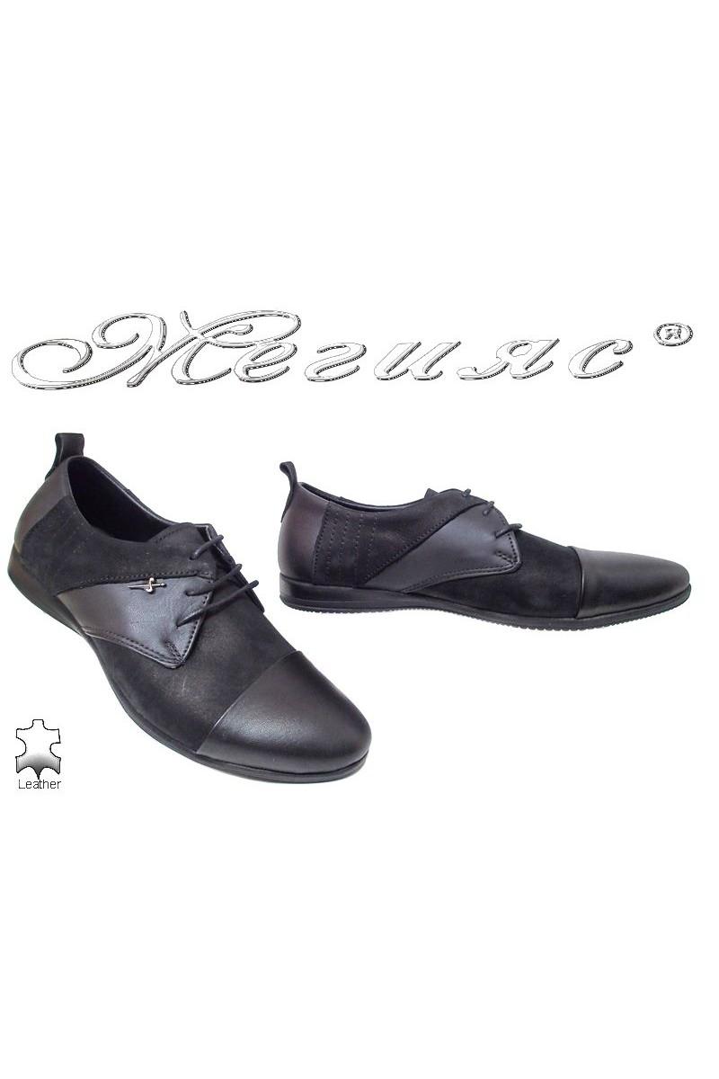 Men shoes Trend 0426 black leather