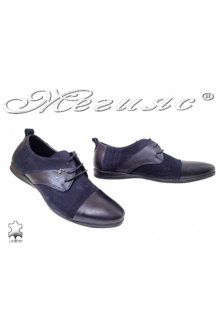 Men shoes Trend 0426 blue leather