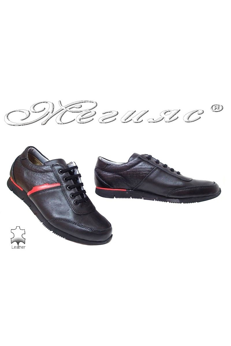 Men sport shoes TREGER 576-92 black leather