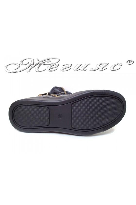Women sport boots 2265-24 black pu
