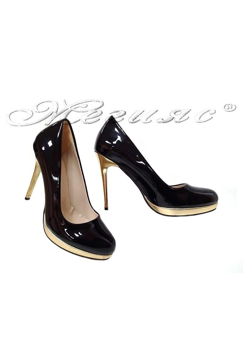 Women shoes 115 black suede high heel