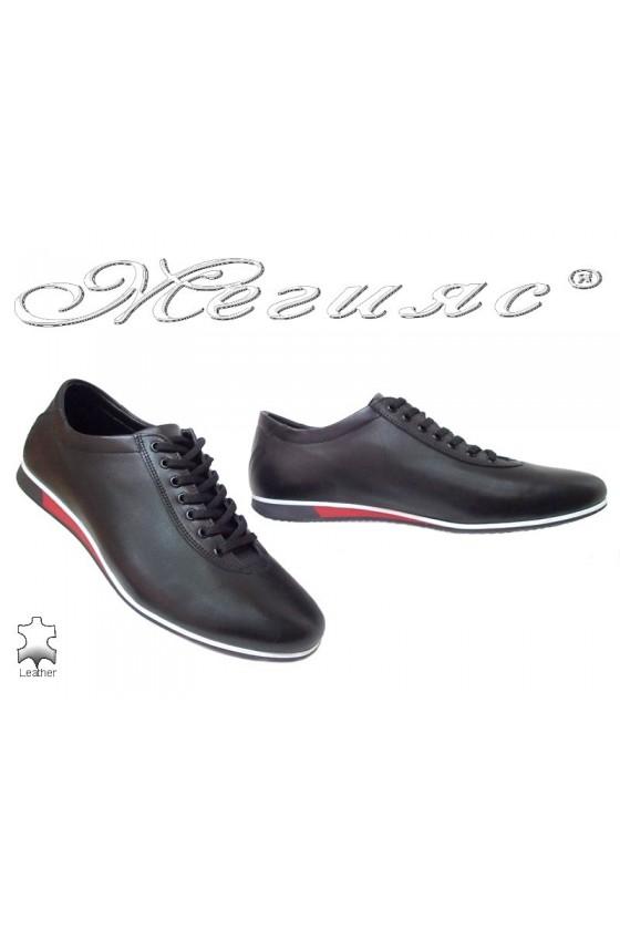Мъжки обувки Фантазия 8296 черни кожа спортни естествена кожа