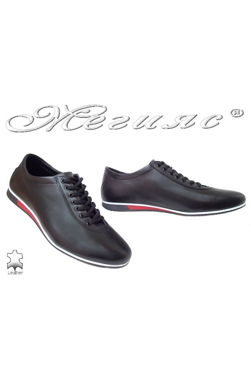 Men sport shoes FANTAZIA black leather