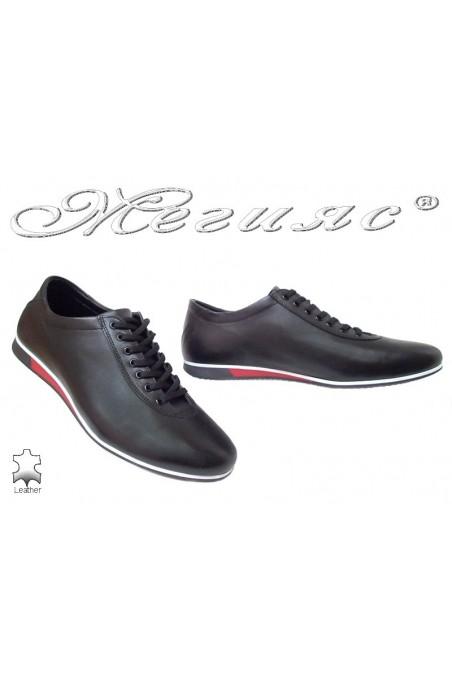 Men sport shoes FANTAZIA black leather