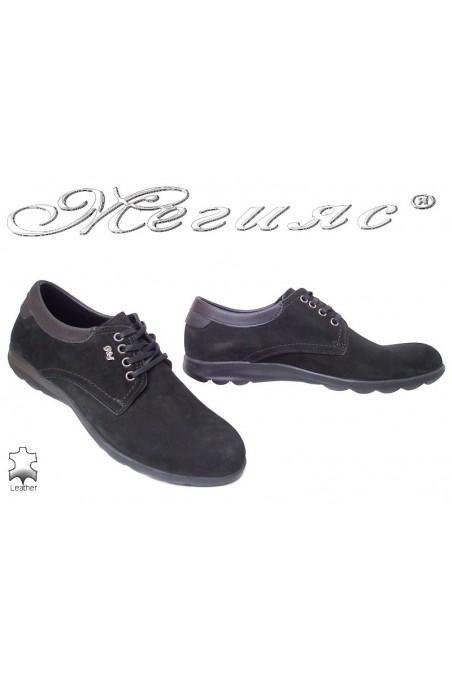 Men sport shoes TREND 370 black suede