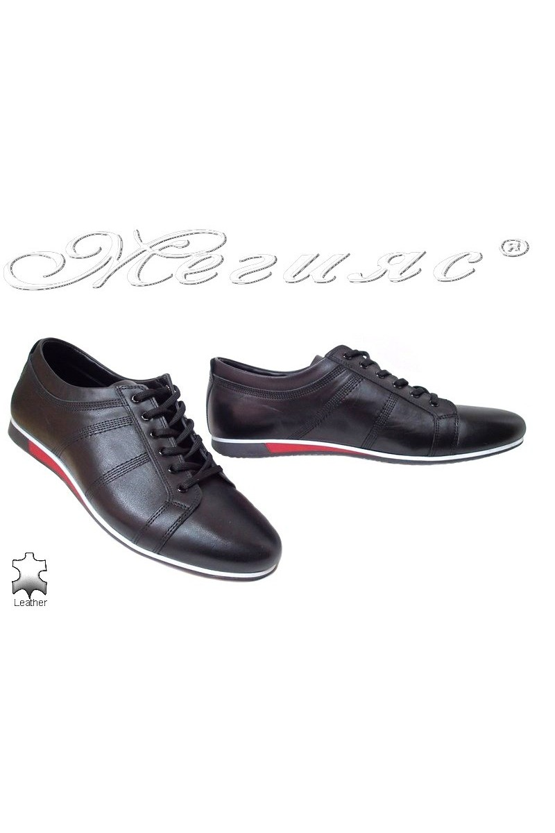 Men sport shoes FANTAZIA 815 black leather