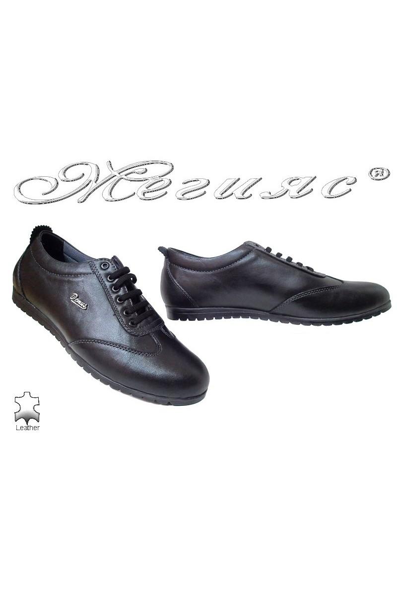 Men sport shoes Demus 601 black leather