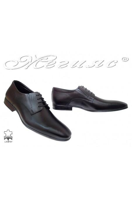 Мъжки обувки Фантазия P 38 черни елегантни естествена кожа