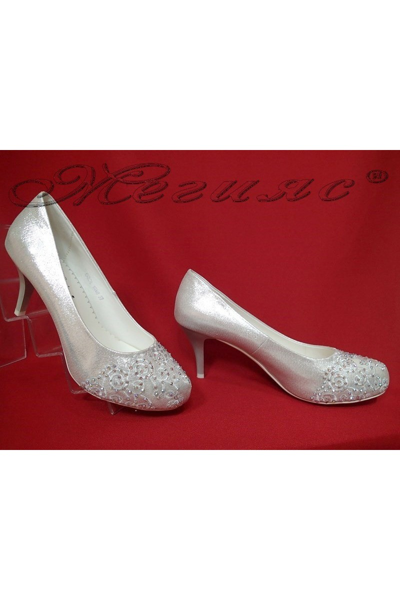 Lady elegant shoes 16008 silver pu
