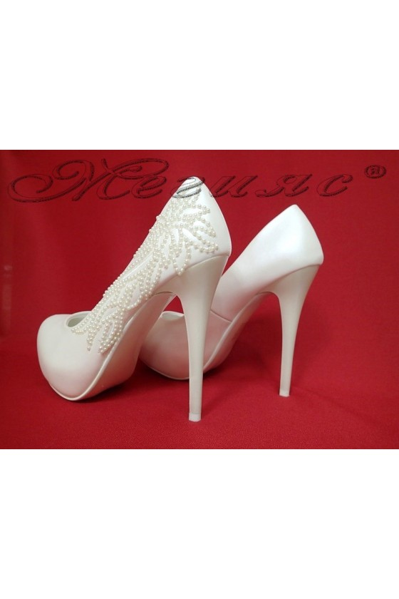 Lady elegant shoes 16012 white pu