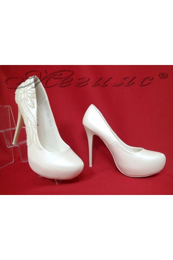 Lady elegant shoes 16012 white pu