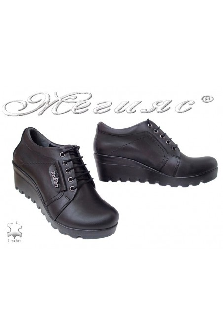 Women casual shoes 22 black leather