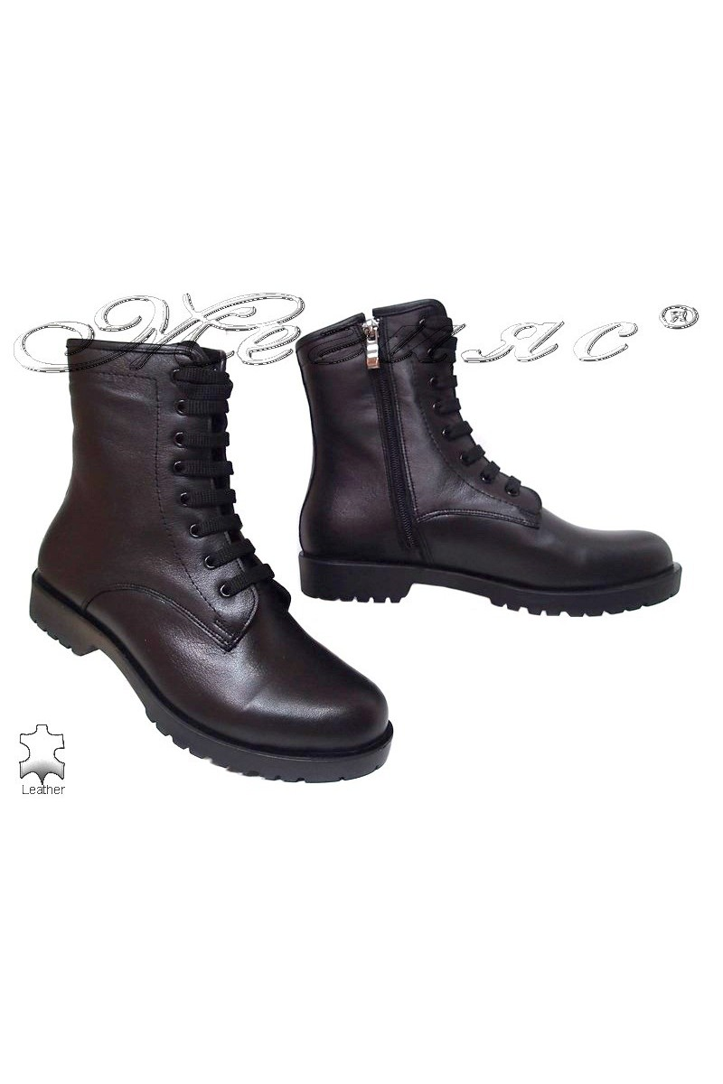 Lady casual boots 217-13259 black leather