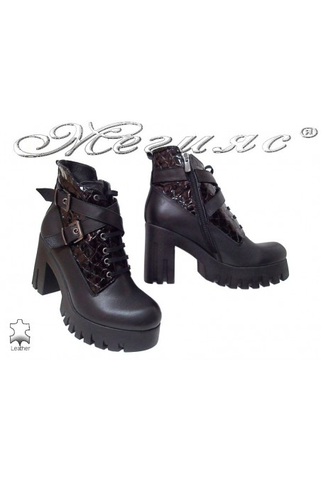 Women boots 1001 black leather