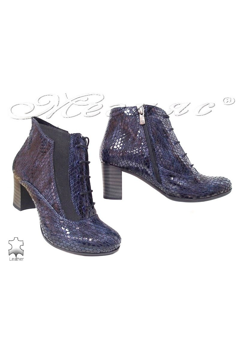 Lady boots 3014-139 blue pattent leather