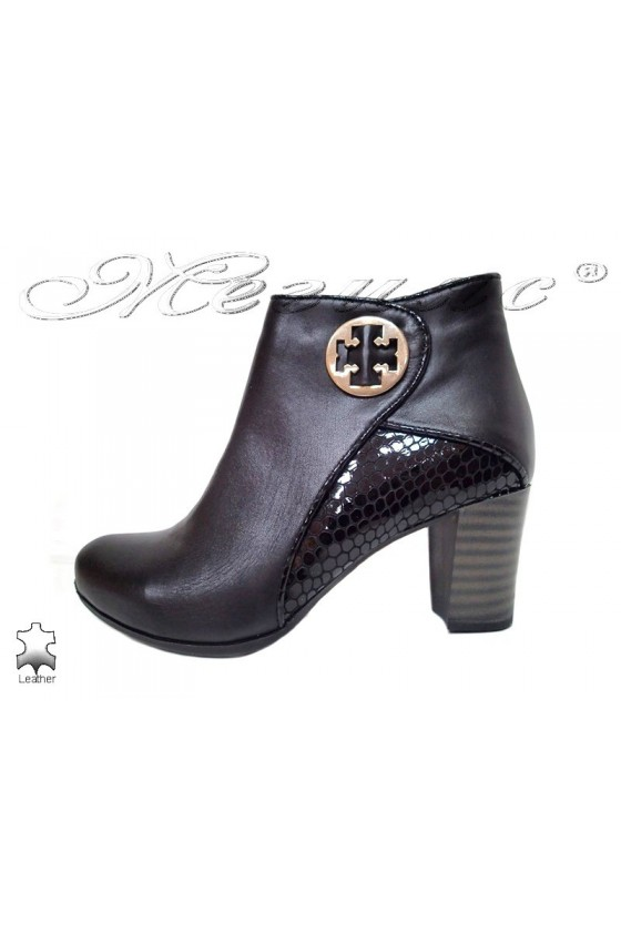 Lady boots 3015-138 black leather