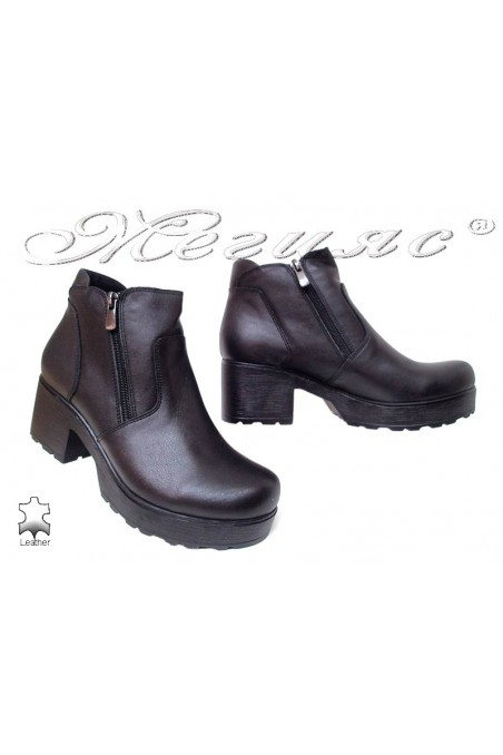 Ladies boots 285/7125 black leather