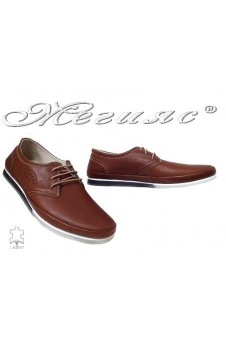 Men shoes 734 Lt.brown leather