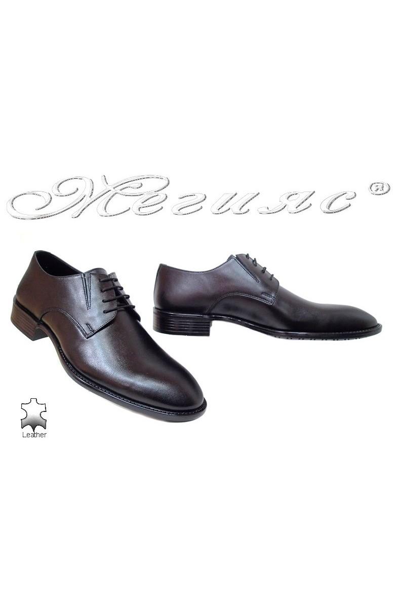 Мъжки обувки Фантазия 7502 черни мат естетсвена кожа елегантни