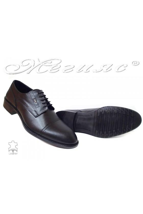 Мъжки обувки Фантазия 7512 черни мат естетсвена кожа елегантни