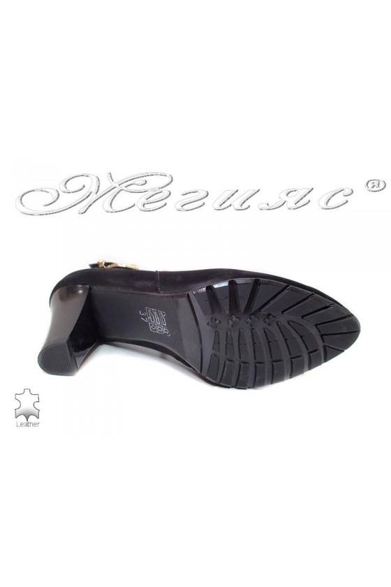Дамски елегантни обувки 211-32-50 черни велур