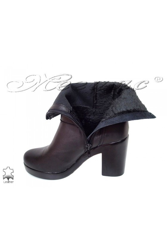 Lady boots 1687 black leather